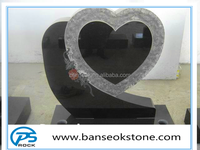 China Factory European signle heart monument G654 Black Granite Tombstone & Headstone