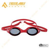 Colorful lens silicone swimming goggles with UV400 protection for Adult