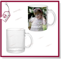 Best sell new product! 11oz transparent Glass sublimation mugs for you own design