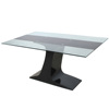 Cheap Modern Metal Glass Dining Table