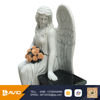 Large size stone sculpture pure white angel monument from China supplier