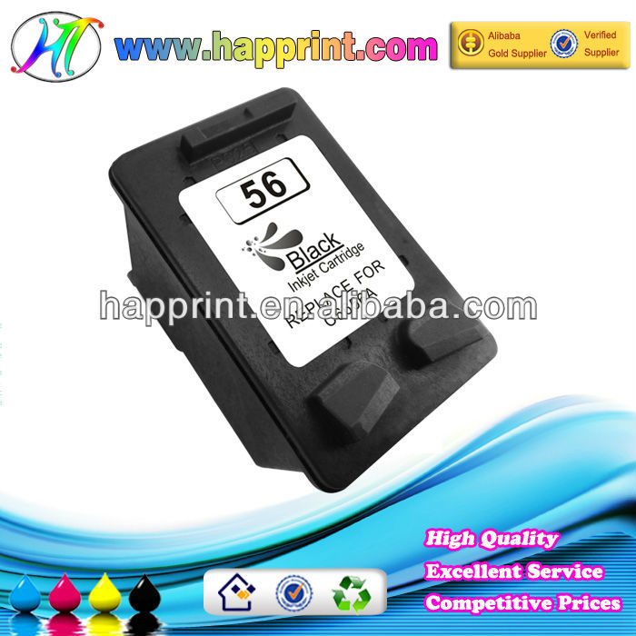 cartucho de tinta replacement ink cartridges for hp 56 C6656A for use with printer model HPDeskjet450/5150/5550/5551
