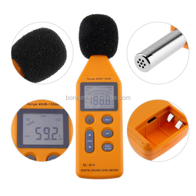Wide Measuring Range 40~130dB SL-814 Digital Sound Level Meter SL814