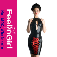 New Style Hot Black Leather Bodysuits For Women