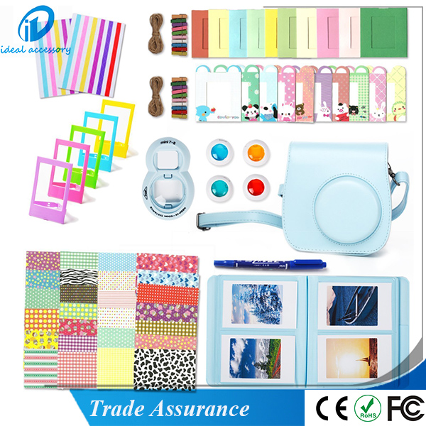 10 in 1 Fujifilm Instax Mini 8 Camera Accessories Bundles Set -Camera Case/ Album/ Selfie Lens/ Close-Up Lens/ Frame