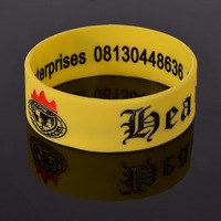 Factory custom cheap engraved silicone wristband for men