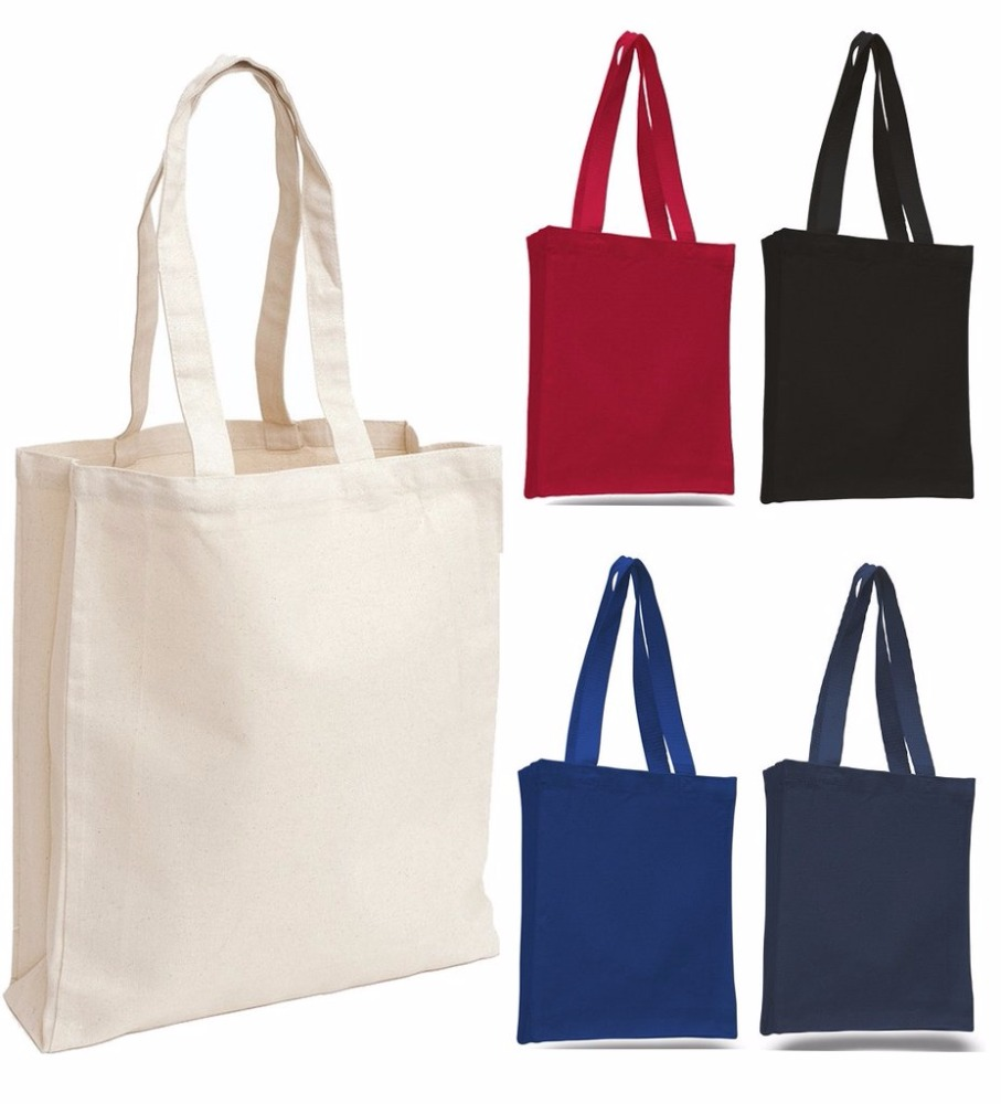 Promotion Full Color Custom Printed Canvas Tote Bag With Your Own ...