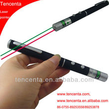 Double laser beam green + red laser pointer