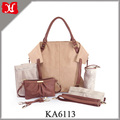 2017 Fashion Leather Baby Diaper Bag Stylish Tote Bag for Young Mummy