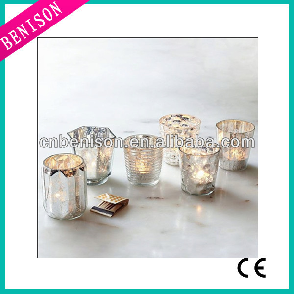 High quality cheapest tealight pier one votive vase ornaments candle holder wholesale mercury glass christmas