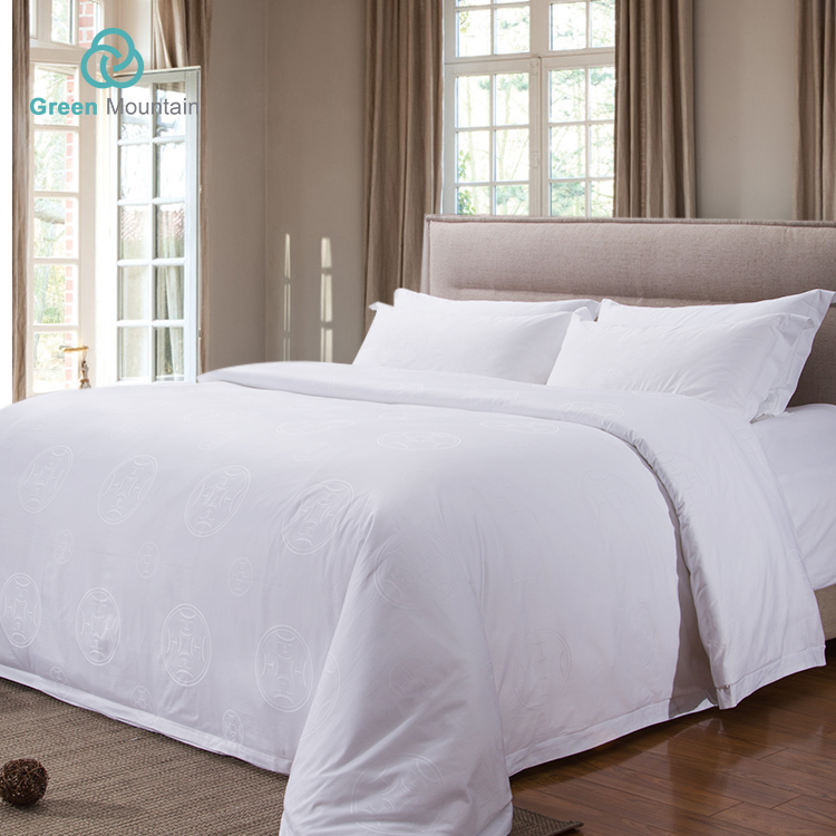 Green Mountain All-Season hotel textile supplier White jacquard comforter supplies
