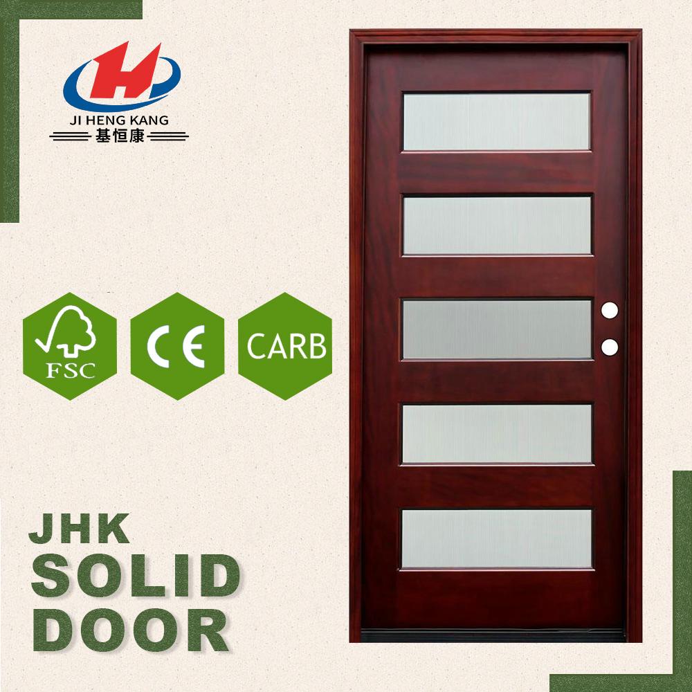 5 panel wood door picture