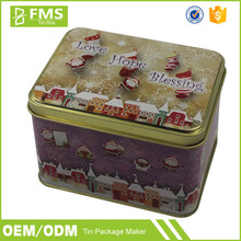 Custom Printed Embossing Colorful Mini Rectangle Metal Tin Gift Packaging Box For Condom And Flash Drive