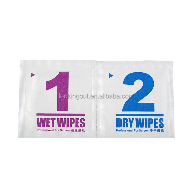 tailor make logo print anti bacterial cleaning wipes