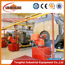 Gas and oil double fuel fired steam boiler with Baltur burner