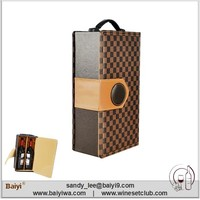 2 Bottles Leather Wine Box / Wine Carrier / Wine Bag