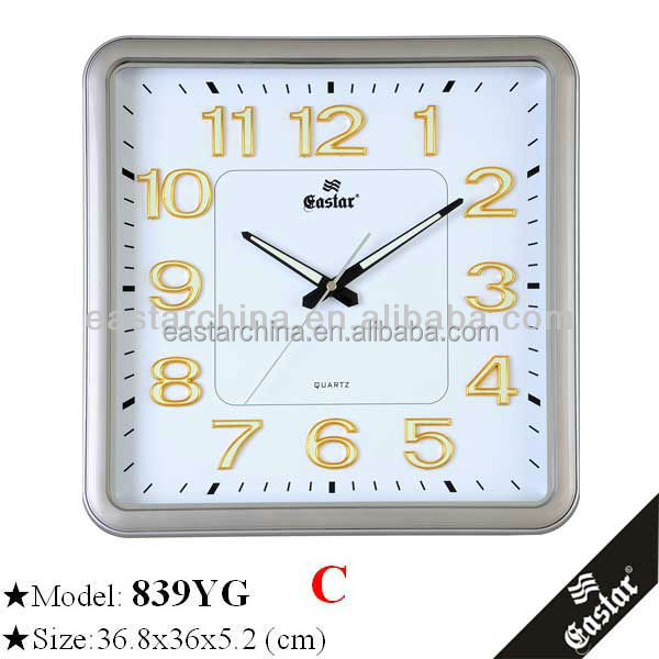Supermarket wall clock modern 3d wall clock oil painting frame clocks