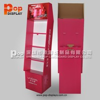 New floor paper display shelf,floor paper display,paper display fsc certificated