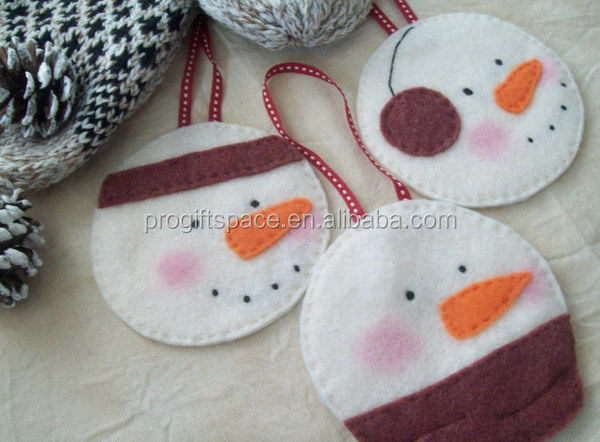 Hot best selling new products custom fabric native imported door stage party snowman hanging felt hotel christmas decorations