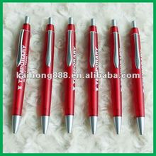 Factory bulk high quality customized logo printing plastic retractable ballpoint pen