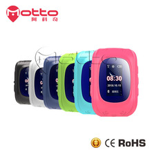 Multi-function android wear gps tracker kids smart watch Q50