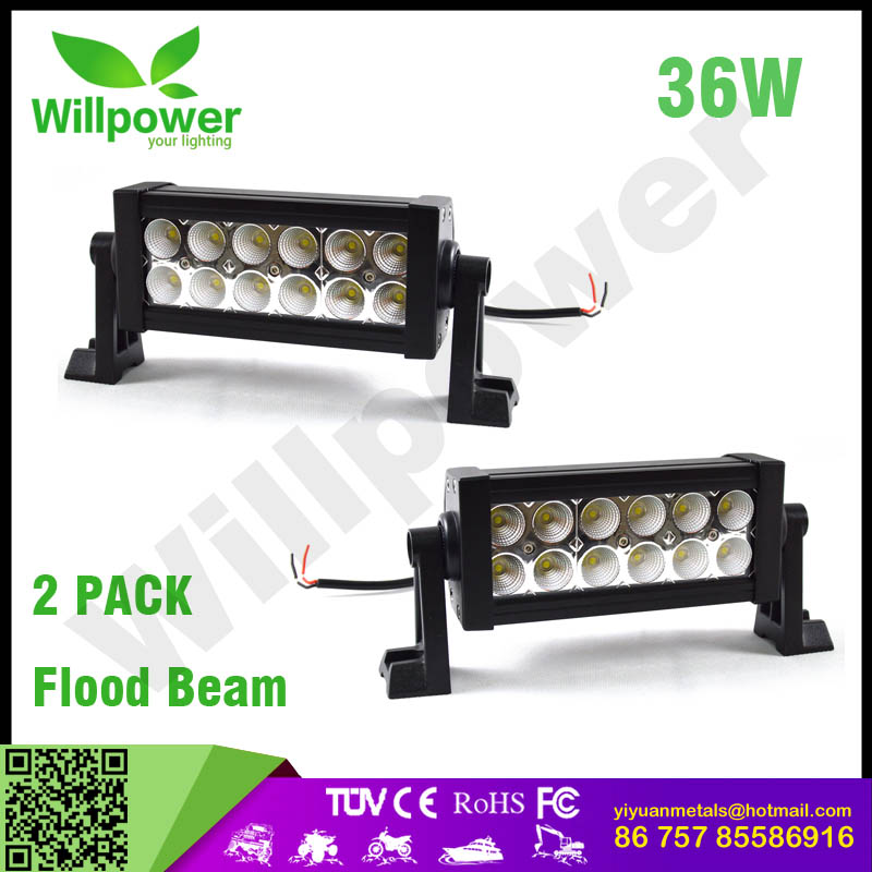 "High power 7"" inch 36w led light bar for toyota hilux 4x4 led light bar"