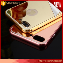 metal Mirror case for iphone 7 7s ,mirror phone protective abck bumper cover aluminum case for iPhone 7 plus