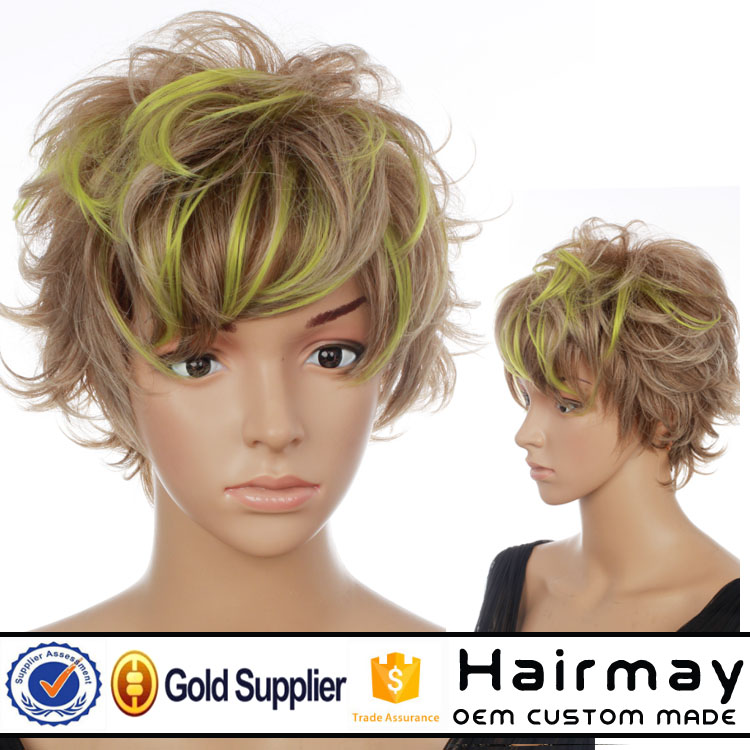 custom make Color wig Doll wigs hair synthetic wigs cosplay wigs hair wig daily wig37