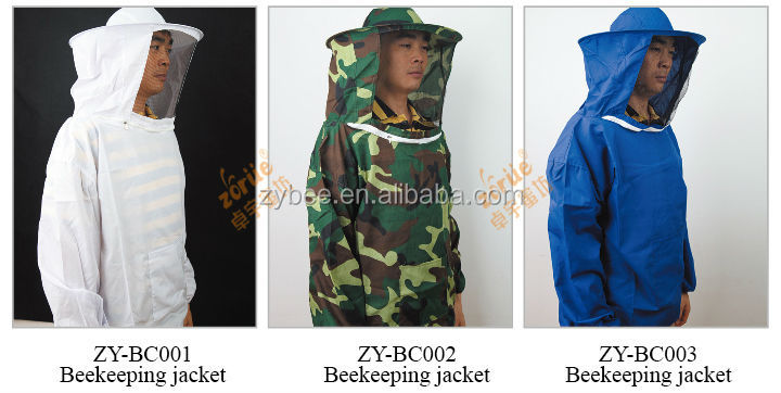 Protective Beekeeping suit Jacket Veil Smock Equipment Bee Keeping Hat Sleeve Suit
