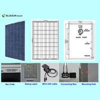 top sell TUV CE certificate poly solar panel 215w
