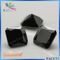 FACETS GEMS Hot Sale Cheap Square Cut Black CZ Industrial Rough Diamond
