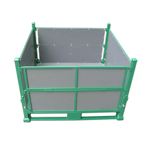 Heavy Duty Folding Steel Pallet Bulk Box Container For Sale