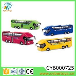 Newest diecast model toy metal bus with light and sound