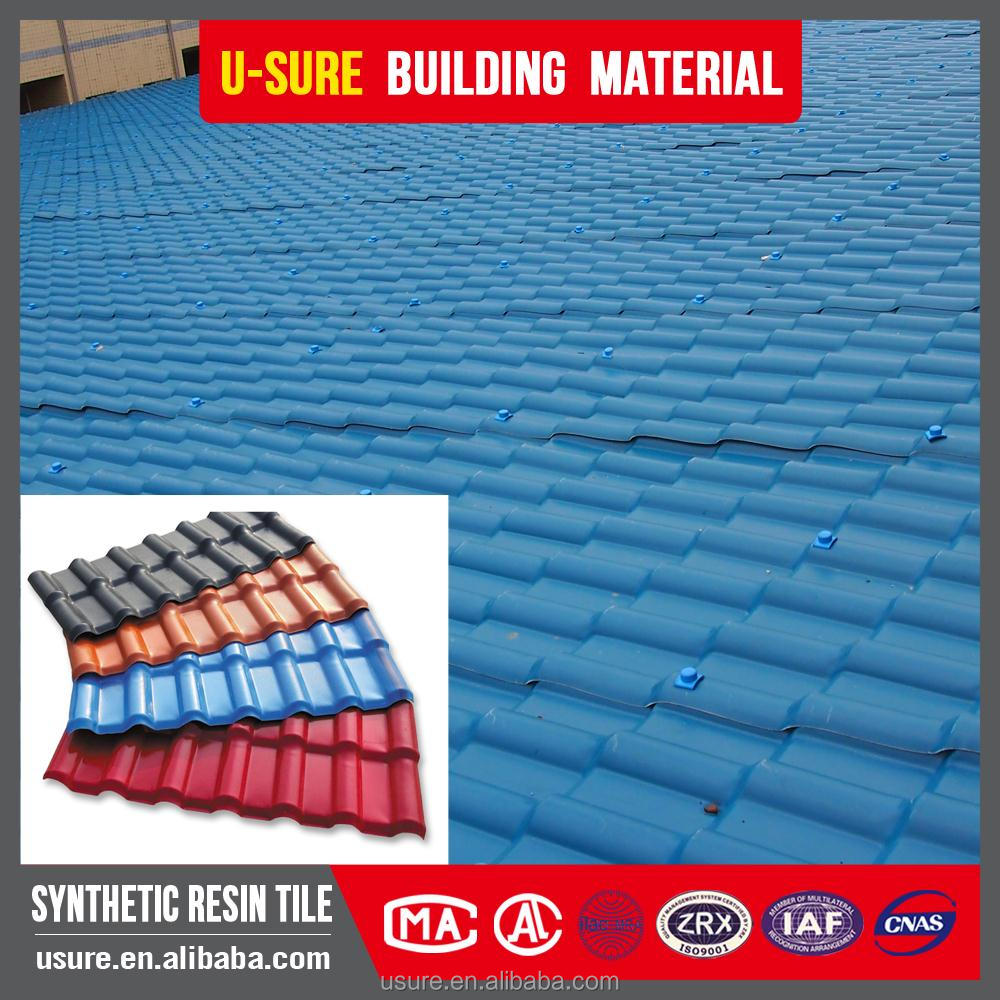 4 layers 1 layer asa weatherproof synthetic resin sheet recycled plastic spanish roof tile
