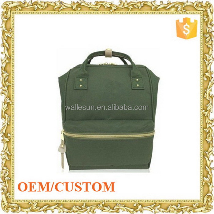 Custom design canvas rucksack dry back pack school trolley bag