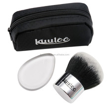Kuulee Big Kabuki Brush e Silicone Spugna Trucco con Nero Sacchetto Comestic Trucco Brush Set Private Label