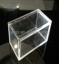 2015 Customize clear acrylic rectangle storage box with lid