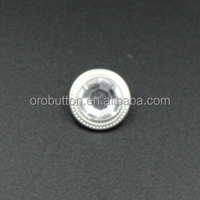 White crystal rhinestone decoration craft snap buttons diy