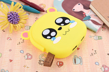 Cute power bank 18650 battery charger cartoon portable phone charger with custom logo