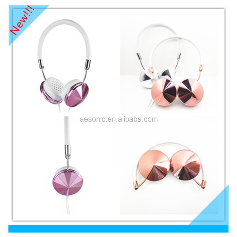 Wholesale Alibaba 2016 Innovative Metal Plated Media Player Use Mobile Music Headphones