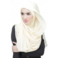 New design solid color Islamic polyester muslim scarf malaysia tudung for women