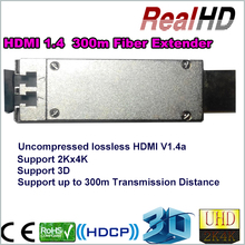 4Kx2k Audio video optical distribution fiber extender HDMI to Fiber optic converter , with 300m Optica cable LC connector