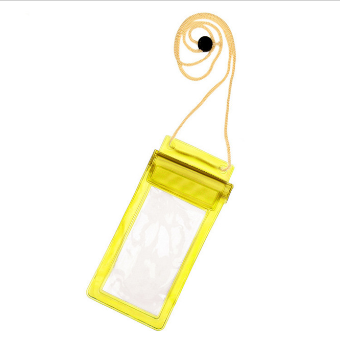 Promotion Universal Pvc Mobile Phone Waterproof Bag Custom Cell Phone Waterproof Bag with lanyard