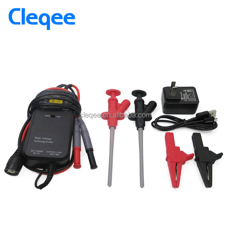 Cleqee YP5205 50MHz 2600V oscilloscope probe differential probe isolation probe Test leads Kit