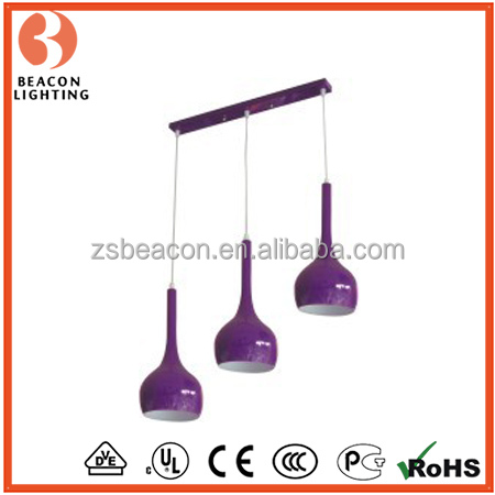 hot new product factory direct sale interior decoration modern hanging replica flos lamp 3 lights purple shapes MP8398-3