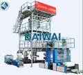 MULTI LAYER CO-EXTRUSION BLOWN FILM MACHINE with Automatic Double Winding Unit and IBC Cooling system