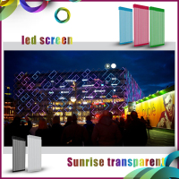 2016 sunrise hot sale electronic products outdoor advertising led display led mesh sign boardwindow led strip hot sale