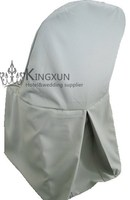 Silver Color Polyester Folding Chair Cover