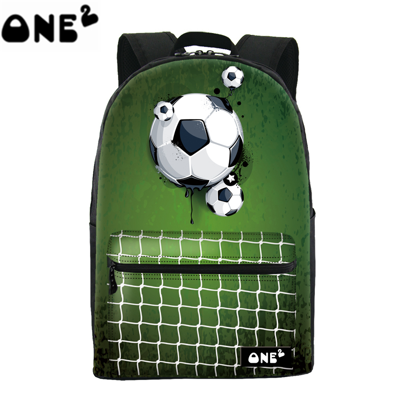 European Cup latest sport fashion football green school bag backpack for boys