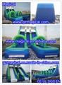 Outdoor Custom Adult Giant Inflatable Double Lane Slip Slide